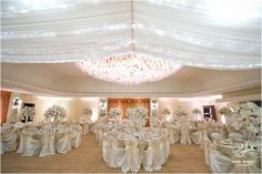 Decoración para boda, color blanco.