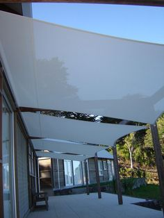 Latest deck canopy exterior remodel ideas on a budget 23 Deck Shade, Backyard Shade, Outdoor Shade, Pergola Shade, Sun Sail Shade, Patio Shade Sails, Wisteria Pergola, Deck Canopy, Backyard Canopy