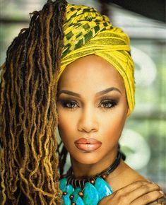 Gorgoeus Dreadlock Styles, Dreads Styles, Dreadlock Hairstyles, Scarf Hairstyles, Braid Styles, Turbans, Beautiful Dreadlocks, African Head Wraps, Black Girls Hairstyles