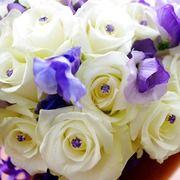 #The Flower House purple bouquet #anne McMahon