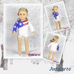 "Gymnastics Leotard Sports Warm Up Pants Clothes for 18/"" Doll Olympic Gymnast"