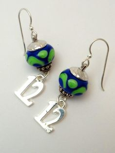 12th Man Earrings Seahawks Colors Hawks by emeraldcityartglass