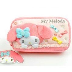 My Melody Plush Cosmetic Bag Pink Sanrio