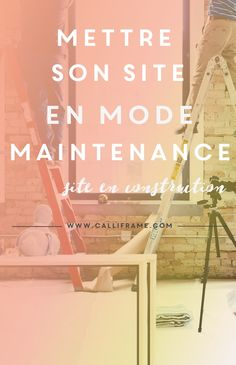 Mettre son site en mode maintenance: