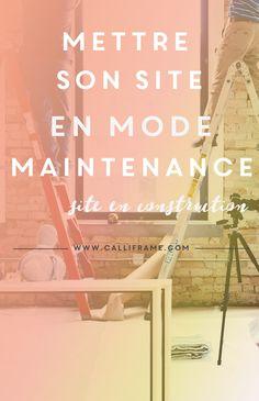 Mettre son site en mode maintenance: «site en construction». #wordpress #plugin #maintenance #webentrepreneure