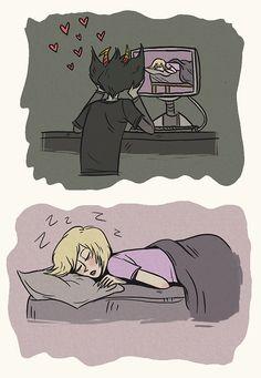 Kanaya watching Rose sleep