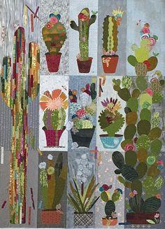 Laura Heine Applique Quilt Pattern - Cactus Collage Sampler Quilt - DIY Pattern - full size reusable template pattern