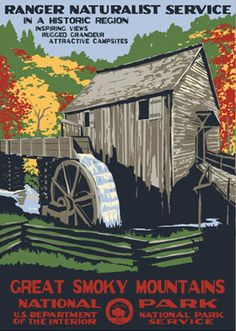 #Great Smoky Mountains  #Travel Vintage Posters USA multicityworldtravel.com We cover the world over 220 countries, 26 languages and 120 currencies Hotel and Flight deals.guarantee the best price