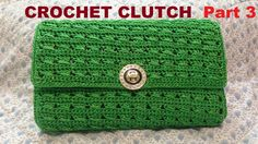How to Crochet Clutch Purse Part 2 – Hướng dẫn móc ví cầm tay – makramee Crochet Double, Crochet Simple, Free Crochet Bag, Crochet Pouch, Crochet Handbags, Crochet Purses, Handbag Tutorial, Tutorial Pochette, Best Leather Wallet