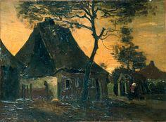Van Gogh - Bauernhaus mit Bäumen, 1885
