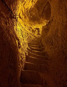 ancient steps in the chalk caves at Ruinart chamnpagne. Learn how to visit: http://www.advicesisters.com/travel/champagne-travel-house-of-pommery-ruinart-drappier