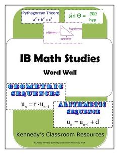 IB Math Studies - Complete Word Wall Ib Learner Profile, Conditional Probability, Natural Number, Math Resources, Classroom Resources, High School Classroom, My Teacher, Fitness, Study