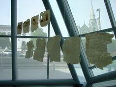 simona gleissnerova - porcelain sheets, letters from friends, baltimore, 2008