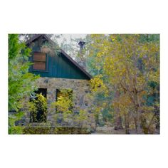 Cabin in the Woods HDR Poster #zazzle #posters #cabin #woods by floralbyfred
