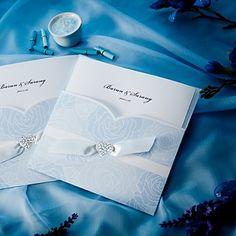 Pretty Blue Pocket Hearts Jeweled Vertical Wedding Invitations, 100 pcs/lot,  Read More:    http://weddingspnina.com/index.php?r=pretty-blue-pocket-hearts-jeweled-vertical-wedding-invitations-100-pcs-lot-w210012.html