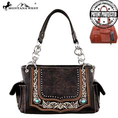 Montana West Concealed Carry Embroidery Collection Tote (MW252G-8085) – Handbag-Addict.com