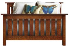 e-Gallery Furniture - Arts & Crafts Wide Slat Mission Style Bed