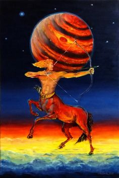 SAGITTARIUS - oil canvas painting, 60 x 40 cm I inivite you to buy my oil painting, follow me on facebook, instagram and tumblr.  Feel free to contact with me per e-mail: artludwik@gmail.com, or facebook: https://www.facebook.com/LudwikArt/