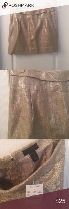 NWT J.Crew beige metallic mini skirt. NWT J.Crew beige metallic mini skirt. Size 6. 🚫 trades. J. Crew Skirts Mini