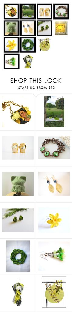 """""""Yellow Meets Green"""" by fibernique ❤ liked on Polyvore featuring Braun and vintage"""