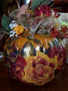 Painted Pumpkin - One Stroke Folk Art painting method