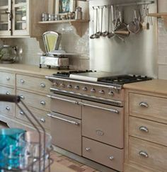Lacanache - Fourneaux de France - want one Kitchen Dining, Kitchen Cabinets, Dining Room, Range Cooker, Bright Kitchens, Cookers, Stoves, Beautiful Space, Kitchen Remodel