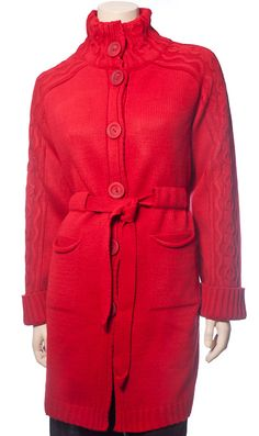 6062 Жакет женский, 6062 (красный)