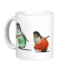 Penguins in Sweaters Coffee Mugs