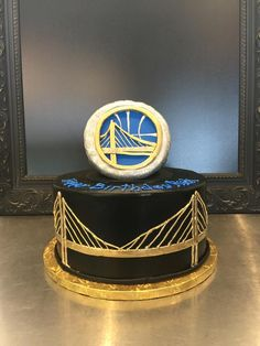 Golden State Warriors ring birthday cake | Gala Bakery - San Lorenzo, CA | www.galabakery.com Birthday Cakes, Birthday Parties, Warrior Ring, Cupcake Cakes, Cupcakes, Golden State Warriors, Youre Invited, Holidays And Events, Amazing Cakes