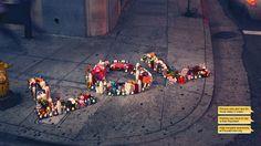 Roadside memorial.
