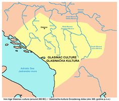 The Glasinac culture was an Iron Age prehistoric archaeological culture named after Glasinac locality in Bosnia and Herzegovina. The area of the Glasinac culture included parts of present-day Bosnia and Herzegovina, Croatia, Serbia, Kosovo and Albania as well as entire present-day Montenegro. The culture is associated with population that was later known as Autariatae, one of the most powerful Illyrian tribes.