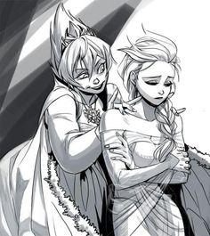 Elsa and Evil Elsa