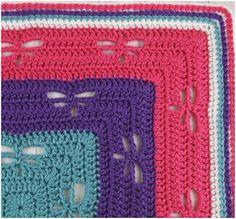 Crochet Dragonflies Throw