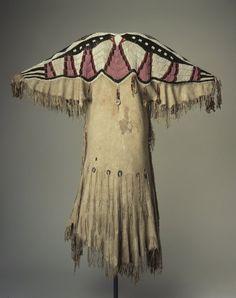 Yakama (Native American). Woman's Beaded Dress, late 19th century. Buckskin, glass beads, metal coins, 46 x 45 1/2 in. (116.8 x 115.6 cm).