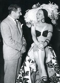Irving Berlin and Marilyn Monroe on the set of There's No Business Like Show Business
