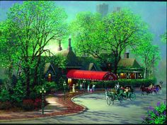 Tavern on the Green.oh what fun we had here! Grace just loved all the decor and the way the lights shimmered after dark! Tavern On The Green, Green Highlights, Vintage New York, Hyperrealism, Famous Landmarks, Brown Aesthetic, Illustrations, After Dark, Central Park
