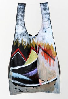 Fort Makers x Baggu hand-painted leather bag, available by special order at fortmakers.com