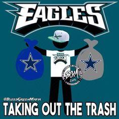 Taking out the trash Dallas Memes, Nfl Memes, Football Memes, Sports Memes, Nfl Football, Football Stuff, Funny Sports, Philadelphia Eagles Wallpaper, Philadelphia Eagles Football