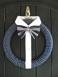 dapper wreath...hmmm...need black door ? :P
