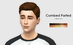 Ellesmea: LumiaLoverSims Combed Parted hairstyle recolor - Sims 4 Hairs…