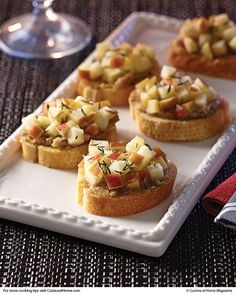 Roasted Garlic & Walnut Crostini | Cuisine at home eRecipes