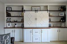 Living Room Built Ins, Kitchen Cabinets, Storage, Building, Furniture, Home Decor, Purse Storage, Decoration Home, Room Decor