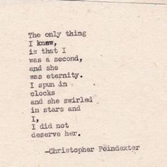 """Tiny Eternities & Magnificent Stars"" series poem #12 Christopher Poindexter"