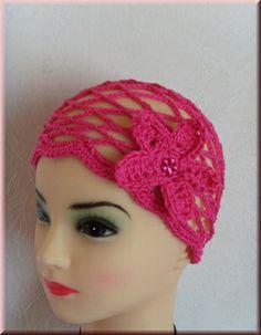Strickparadies - Haarnetz oder Luftige Sommermütze in Wunschfarbe