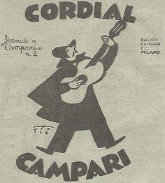 W4386 CAMPARI - Serenata n. 2 - Vignetta - Pubblicità del 1931 - Vintage advert