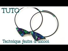{ TUTO } Collier Fimo / technique feutre à alcool - YouTube