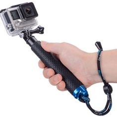 Vicdozia Waterproof Hand Grip Adjustable Extension Selfie Stick Handheld Monopod for GeekPro/GoPro HD Hero 6 5 4 3 3 2 AKASO, SJCAM Xiaomi Yi(with Wrist Strap and Screw) -- Visit the image link more details. (This is an affiliate link) Gopro Hd, Gopro Camera, Gopro Underwater, Selfies, Go Pro, Gifts For Sailors, Telescopic Pole, Gopro Hero 5, Bluetooth Remote