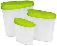 Food Storage Container Green 3Pack  BPA Free Reusable Environment Friendly Multipurpose Use for Home Kitchen or Restaurant  by Utopia Kitchen * Details can be found by clicking on the image.