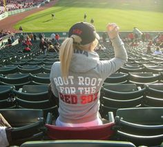 sitting in the lone red seat at Fenway Park! root root for the RED SOX <3