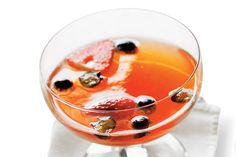 Berry Bubbly Punch - Spirited Cocktail Recipes - Southernliving. This recipe is adapted from a Champagne punch found in the first-ever cocktail book published in the United States in 1862, The Bartender's Guide by Jerry Thomas.  Recipe:Berry Bubbly Punch